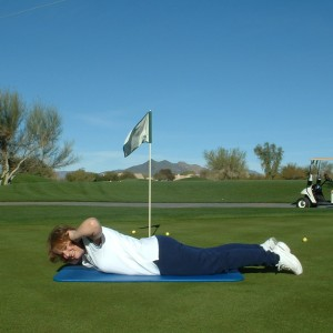 PRONE SPINAL EXTENSION WITH ROTATION