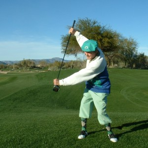 VERTICAL SWING WITH CLUB