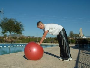 ELBOW PLANK TO STANDING