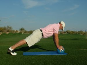 PUSHUPS WITH BOTH HANDS ON BALL