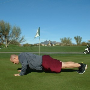 PUSH UP HOLD WITH ROTATION