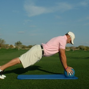 PLANK WITH HANDS ON BALL